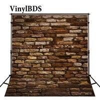 VinylBDS 빈티지 사진 배경 나무와 벽돌 벽 배경 사진 스튜디오 촬영을위한 벌거 벗은 아기 대형 원활한 사진