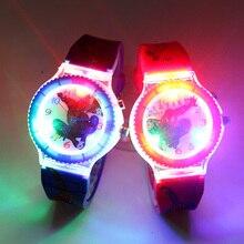 Красочные вспышки света Человек-Паук детские часы с музыкой мальчики дети часы Девушки подарок часы часы Relogio infantil девушки