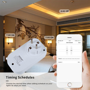 Image 2 - ACCKIP Europe Plug inteligentne gniazdo WiFi sterowanie głosem ustawienie czasu Tuya inteligentne życie App inteligentna wtyczka 16A miernik energii oszczędzanie energii