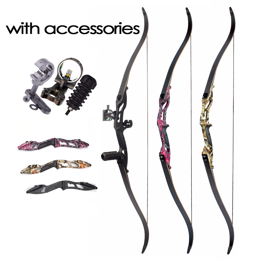 3 Color 30-50lbs F179 Recurve Bow 56 Inches American Hunting Bows Tranditional Long Split Bow For Outdoor Shooting Practice