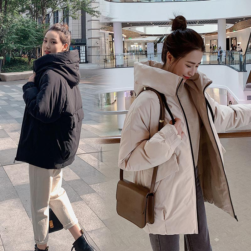 Women Jacket 2019 New Winter Long   Parkas   Warm Pocket Autumn Casual Oversize Outwear Mujer Cotton Padded   Parka   Coat Female