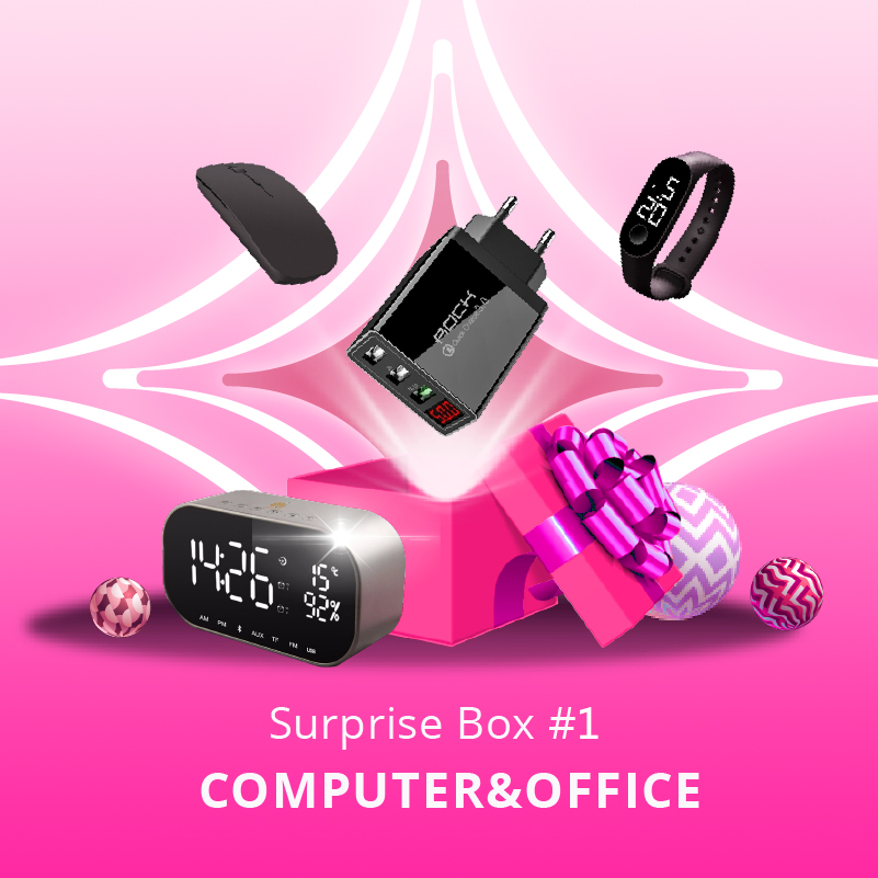 Boîte Surprise electronique grand public/(6) choisir (4)/montre intelligente + casque + montre de sport + chargeur sans fil + haut-parleur + loupe de téléphone