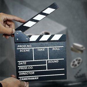Director Video Scene Clapperboard Clapper Board Acrylic Dry Erase Director TV Movie Film Action Slate Clap Handmade Cut Prop New