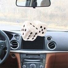 2x Милые Плюшевые Мягкие кубики автомобиля зеркало заднего вида вешалка кулон украшение интерьера