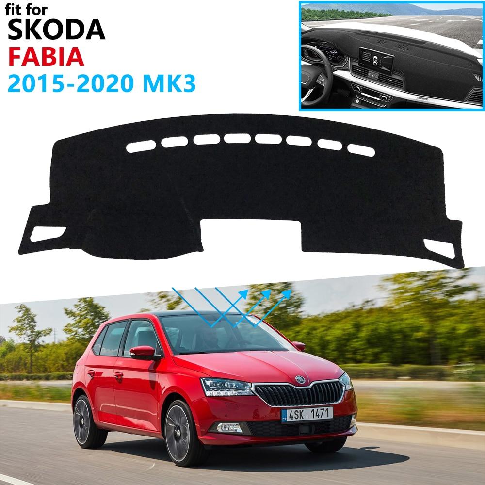 Dashboard Cover Protective Pad For Skoda Fabia 3 NJ 2015 2016 2017 2018 2019 2020 MK3 Accessories Dash Board Sunshade Carpet