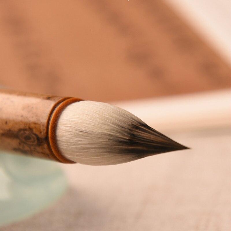 Calligraphy Brush Chinese Woolen Purple Rabbit Hair Brush Pen Calligraphy Painting Regular Script Buddhist Sutras Writing Brush