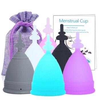 Medical Silicone Menstrual Cup Copa Menstrual De Silicona Medica Period Cups Reusable Feminine Hygiene Cup Foldable Silicone Cup