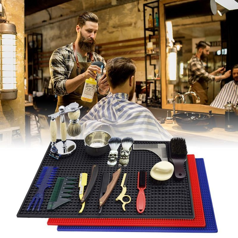 Professional Salon Barber Shop Styling Tool Pad Silicone Heat-resistant Anti-slip Mat Large Area To Keep Hair Tools Neat