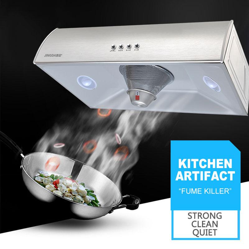 Coifa de Sucção Grande de Aço Inoxidável de Alta Potência Ultra-fino D6 Range Hood Para Cozinha do Agregado Familiar Pequeno Único