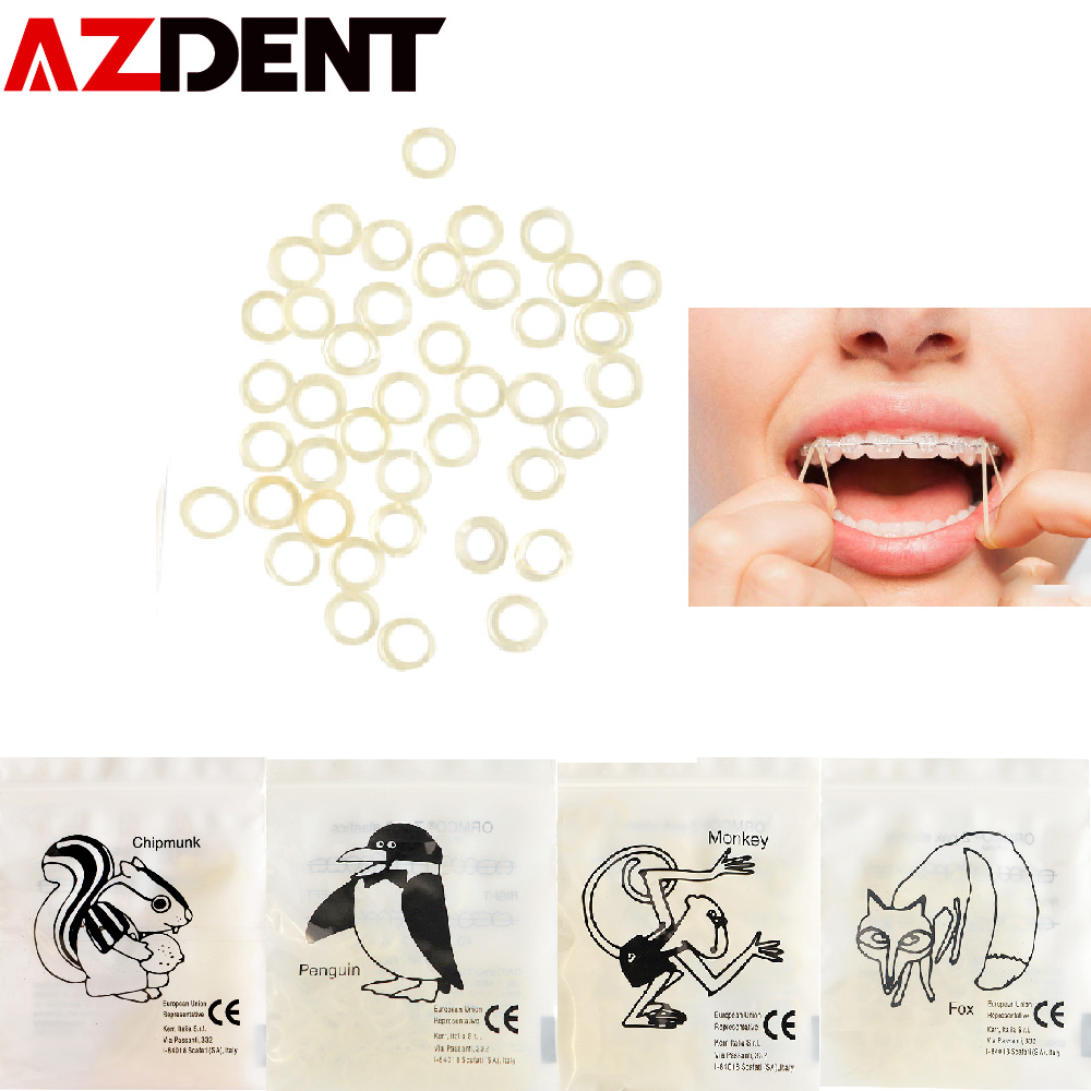 5000pcs Rubbers/box  Dental Rubber Band Traction Rubber Band Dental Ligature Ring Orthodontic Elastics Braces