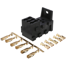 цена на 1 set Relay Fuse Holder 3 Fuse Base Kit 4&5 PIN Flasher Relay ATO Fuses Holder Socket Box Fuse Accessories
