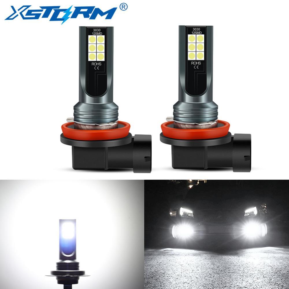 2pcs H11 H7 H8 Led 9005 HB3 9006 HB4 LED Bulbs Car Fog Lights with 3030 Chips 6000K White Auto Fog Lamp Day Running Light 12V|Car Headlight Bulbs(LED)|   - AliExpress