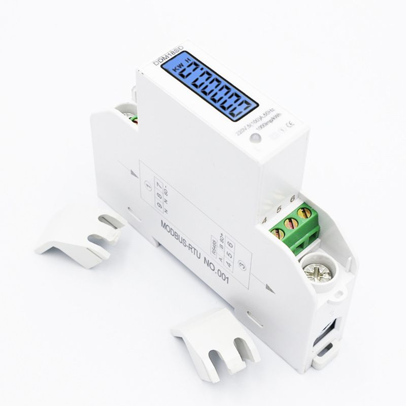 5(100A) Electricity Single Phase Din Rail RS485 Modbus-RTU Power Energy Meter image