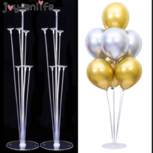 Cheap 7/11 Tubes Balloons Holder Column Stand Clear Plastic Balloon Stick Birthday Party Decoration Kids Wedding Decor