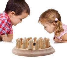Детская Деревянная шахматная палочка с памятью, Детские Игрушки для раннего обучения, деревянные образовательные игрушка, забавная цветная игрушка с памятью