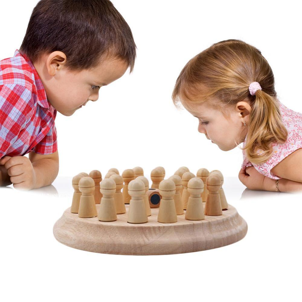 Kids Wooden Memory Match Stick Chess Game Children Early Learning Toys Wooden Toy Educational Game Fun Color Memory Toy