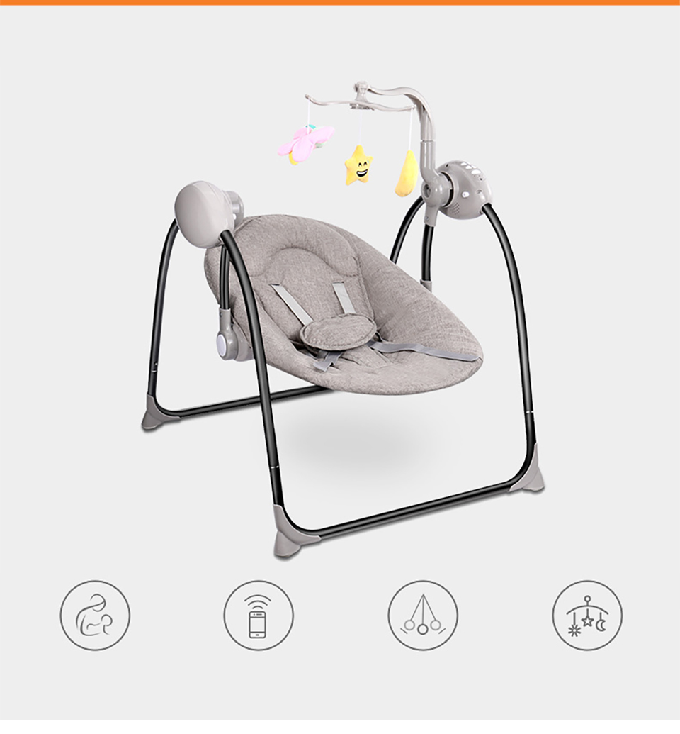 H429d9cf19e024bd1b857b3fb3f6a9bddp IMBABY New Baby Electric Rocking Chair Cradle Foldable Baby Comfort Recliner for Newborn Bebe Safety Comfort Rocker Swings Chair