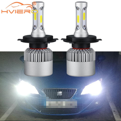 2X H4 Car Headlight Fog Lighting Hi-Lo High Low Beam S2 COB IP67 Waterproof 6500K 72W 8000LM Auto Headlamp Led DC 12v For Toyota
