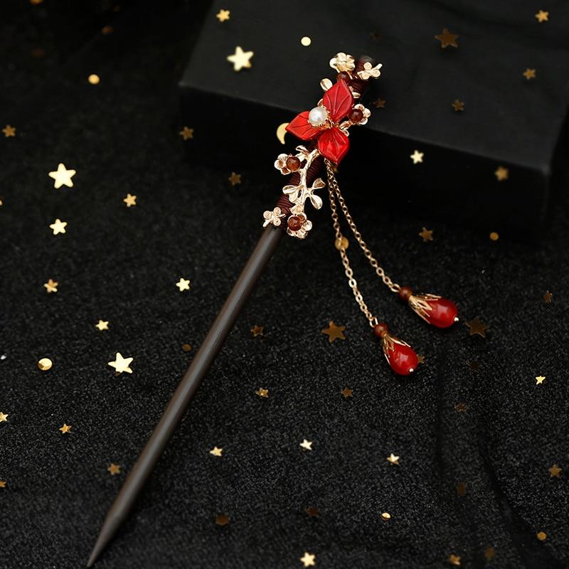 Ggardenia Hairpin Tassels Hair Clip for Hanfu Kimono Cheongsam Woman Gift  Sa
