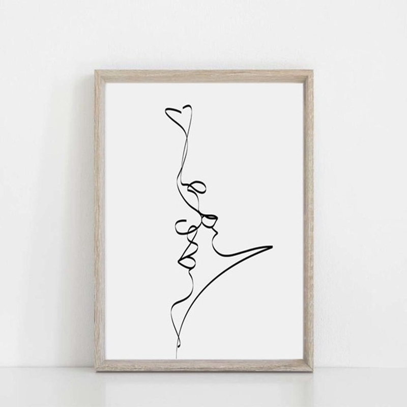 Single Line Love Print