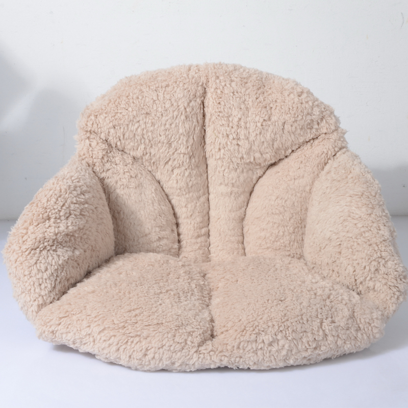 Warm Sofa Waist Pillow And Cushion,sea Shell Plush Seat Cushion For Home Office Car Chair,travel Back And Seat Cushion Almofada