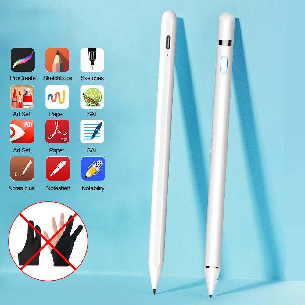 Stylus Pen For IPad Pro 11 12.9 9.7 2018 Air 3 Mini 5 No Delay Drawing Anti Mistakenly Touch Pen Fiber Tip For Apple Pencil D25
