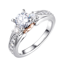 Luxury Silver Color Engagement Ring Female AAA Cubic Zircon Crystal Wedding Rings For Women Party Jewelry Promise Gift D5M524 fashion rose gold color female promise ring with aaa cubic zircon crystal jewelry wedding bands rings for women bride wholesale