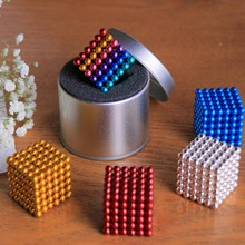 New 5mm 216pcs Neodymium Magnetic Magic Cube Magnets Puzzle Blocks Balls with Metal Christmas Gift for Kids