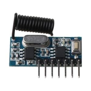 Image 3 - שלט רחוק אלחוטי מקלט מתג שקע למידה קוד EV1527 פענוח מודול כפתור 433MHz 4CH פלט LED חשמלי דלת