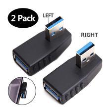 USB 3.0 adaptörü 90 derece erkek kadın çoğaltıcı konnektör fişi sol açı ve sağ açı