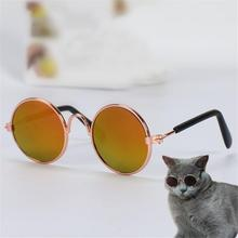 Pet Glasses Funny Personality Cat Dog Sunglasses Round Puppy Eye-wear Kitten Eye Protection Pets Photo Prop Kitty Accessoires цена 2017