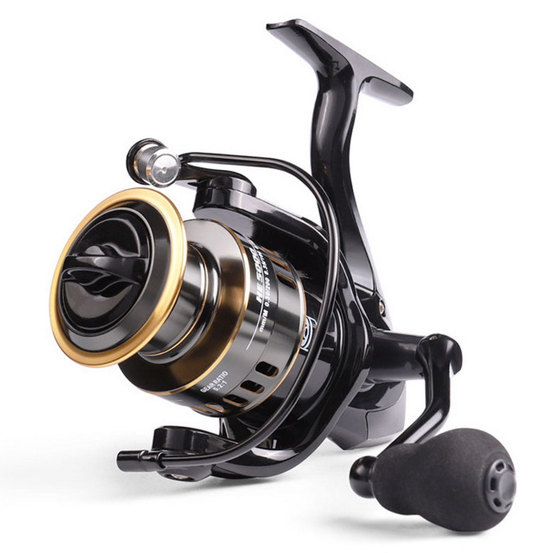 New Fishing Reel HE1000-7000 Max Drag 10kg Reel Fishing 5.2:1 High Speed Metal Spool Spinning Reel Saltwater Reel