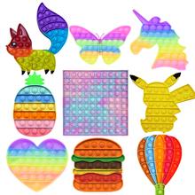 1PC Push Bubble Fidget zabawka sensoryczna autyzm specjalne potrzeby Stress Reliever wielokolorowa dekompresja ugniatanie zabawki szkoła biurowa tanie tanio CN (pochodzenie) W wieku 0-6m 7-12m 13-24m 25-36m 4-6y 7-12y 12 + y 18 + Zwierzęta i Natura Do jazdy Fantasy i sci-fi Sport