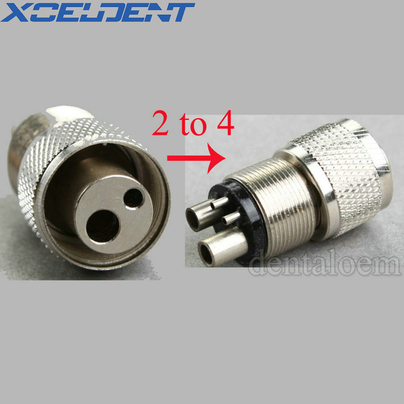 1pcs Dental Handpiece Turbine Adapter From 2H To 4H B2 To M4 C-1 Changer Connector Tool Dentistry Tools