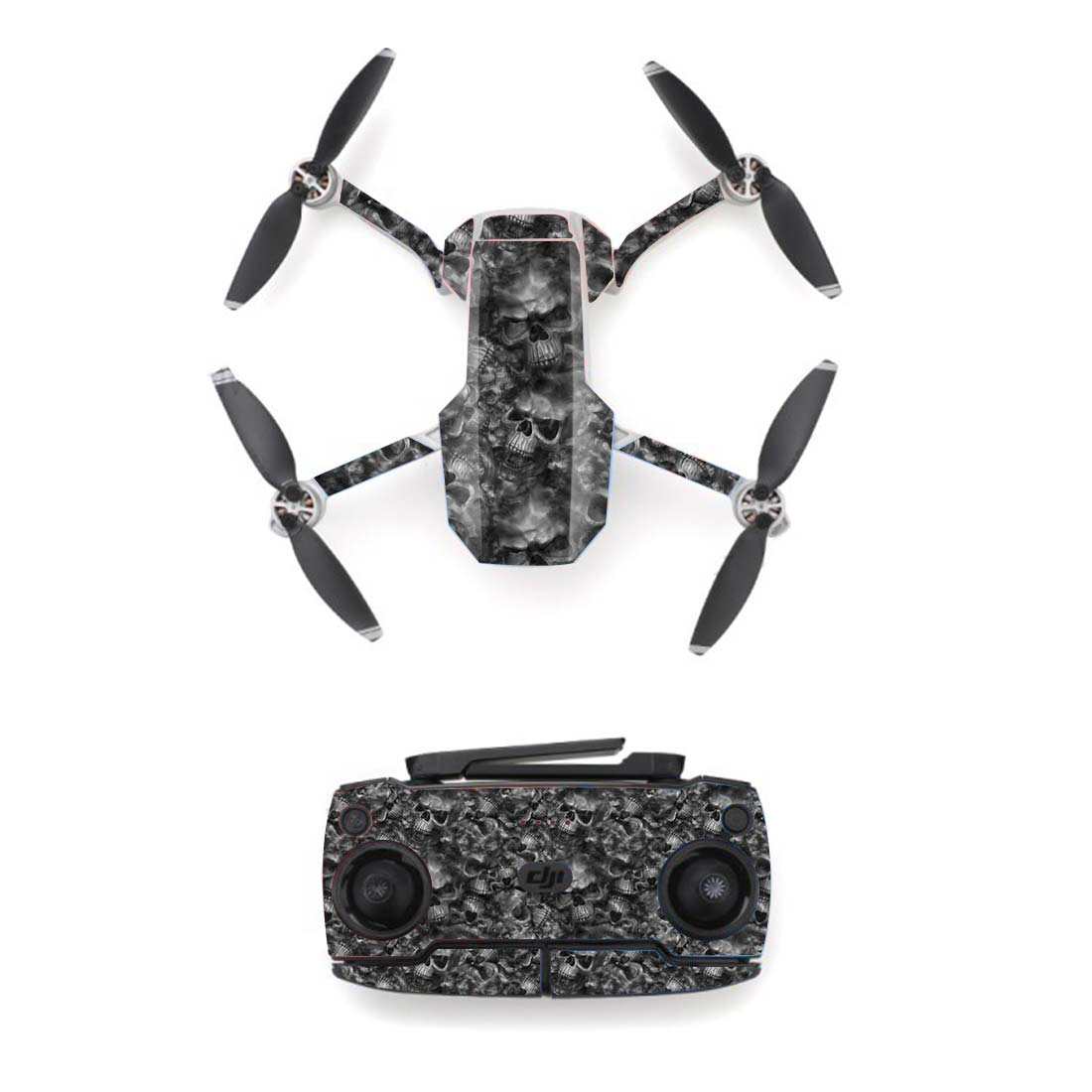 Cool Skull Style Skin Sticker For DJI Mavic Mini Drone And Remote Controller Decal Vinyl Skins Cover M0040