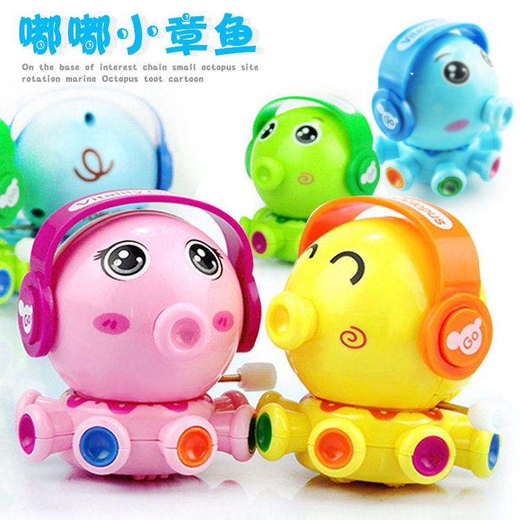 New Style Chain Small Octopus Spring Small Toy Rotating Fun Toot Small Octopus Winding Octopus Toy
