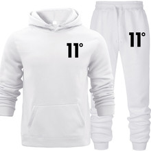 Men Daily Tracksuit 2019 New Hoodie Autumn Sport Suit Solid Hooded with Pocket Cotton Fall Winter Warm Sweatshirts Womens Sets