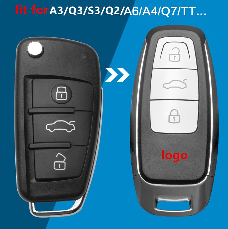 Car Modified Remote Key Shell Keyless Smart Key Case Upgrade for Audi A3 A4 A6 A8 TT Q2 Q3 Q5 Q7 S3 A5 A7 RS3 Remote Key Cover