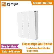 2020 Xiaomi Mijia Wand Schalter Einzel Doppel dreibettzimmer Öffnen Dual Control Schalter 2 Modi Schalter Über Intelligente Lampe Lichter Schalter
