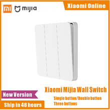 2020 настенный выключатель Xiaomi Mijia, одинарный, двойной, тройной, открытый, двойной переключатель управления, 2 режима переключения между умным светильником, выключатель освещения