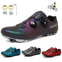 Gorąca sprzedaż kolarstwo Sneaker płaskie buty MTB odkryty profesjonalne lekkie blokowanie Cleat buty rowerowe oddychające buty rowerowe SPD tanie tanio pscownlg CN (pochodzenie) Skórzane Dla dorosłych Wysokość zwiększenie Oświetlony Masaż Wodoodporna Cotton Fabric