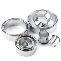 Cookie Mold Cake Tools Bakeware Stainless Steel Baking Tools 14 Pcs Round Mousse Circle Kitchen Gadgets DIY Cake Mold|Cake Molds|   -