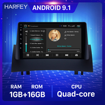Harfey 9 inch Car Multimedia Android 9.1 CAR GPS Radio for 2004-2008 Renault Megane 2 with Bluetooth AUX support Carplay TPMS image