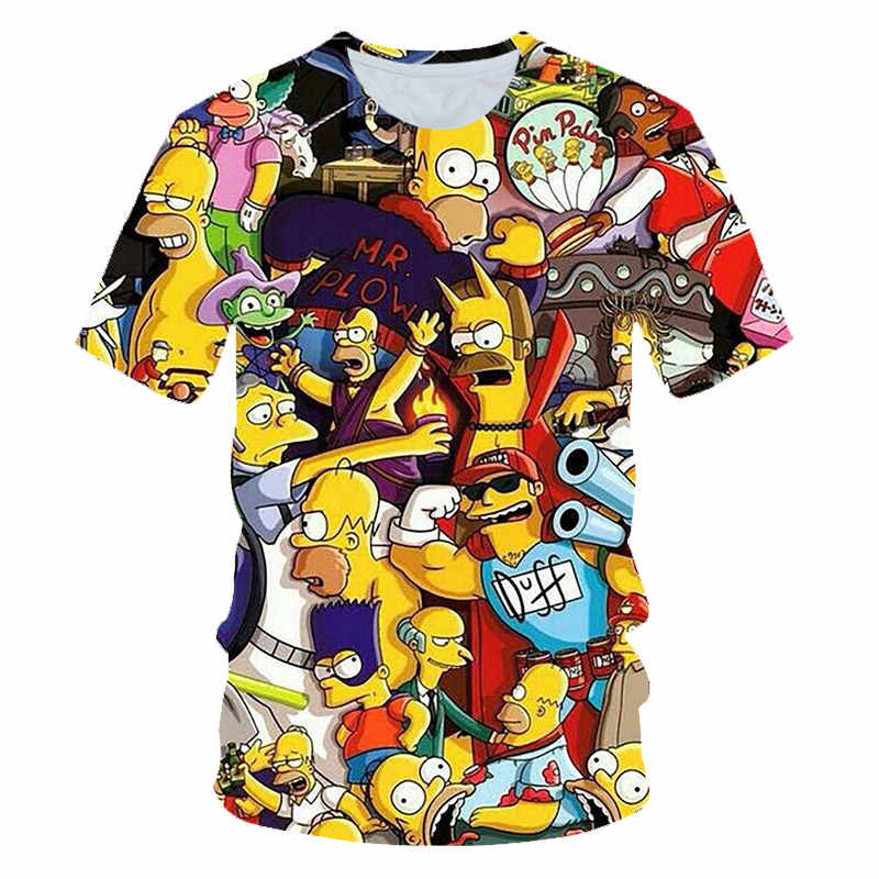 Hot Dijual Pria Wanita Anime THE SIMPSONS Graffiti T Shirt Baru Fashion Hoodies Sweatshirt 3D Print Unisex Streetwear