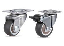 Roulettes pivotantes en caoutchouc souple pour chaise de bureau, mobilier robuste, muet, 4 pièces