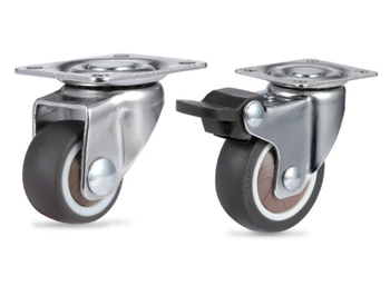 4Pcs Heavy Duty Furniture Mute Soft Rubber Swivel Casters Office Chair Caster Wheels Roller For Platform Trolley Chair