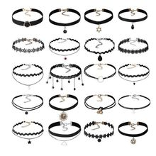 20 Pieces / Set of European and American Jewelry Gothic Necklace Collar Lace Chain Explosion