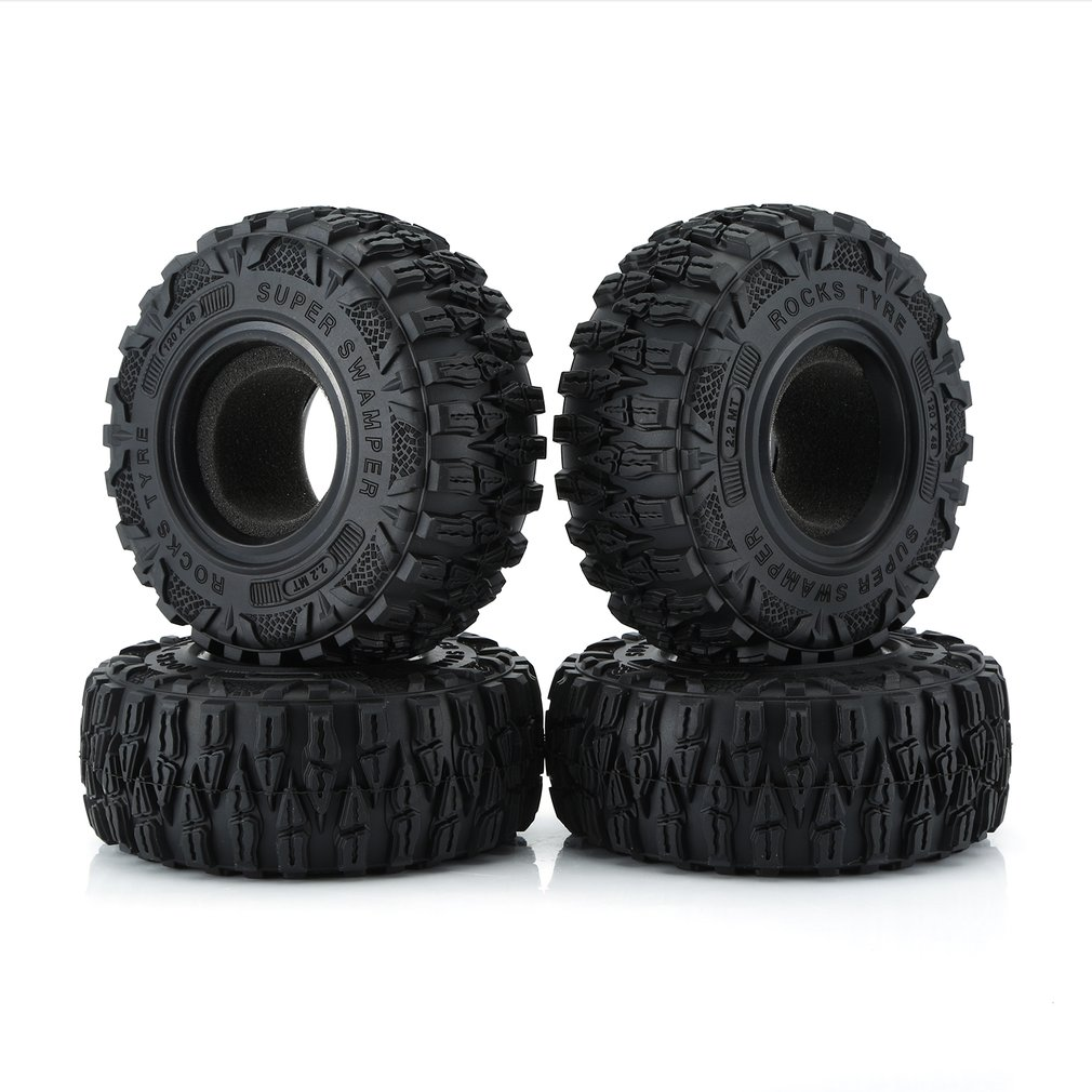 AX-6021 4PCS <font><b>2.2</b></font> Inch Model Climbing <font><b>Tire</b></font> Sponge Liner Car Set for RC Crawler Car Rubber <font><b>Tires</b></font> Tyres Truck Set image
