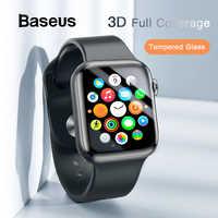 Baseus 0.23mm mince verre de protection pour Apple Watch 1 2 3 4 5 3D couverture complète verre trempé pour iWatch 4 3 2 protecteur d'écran