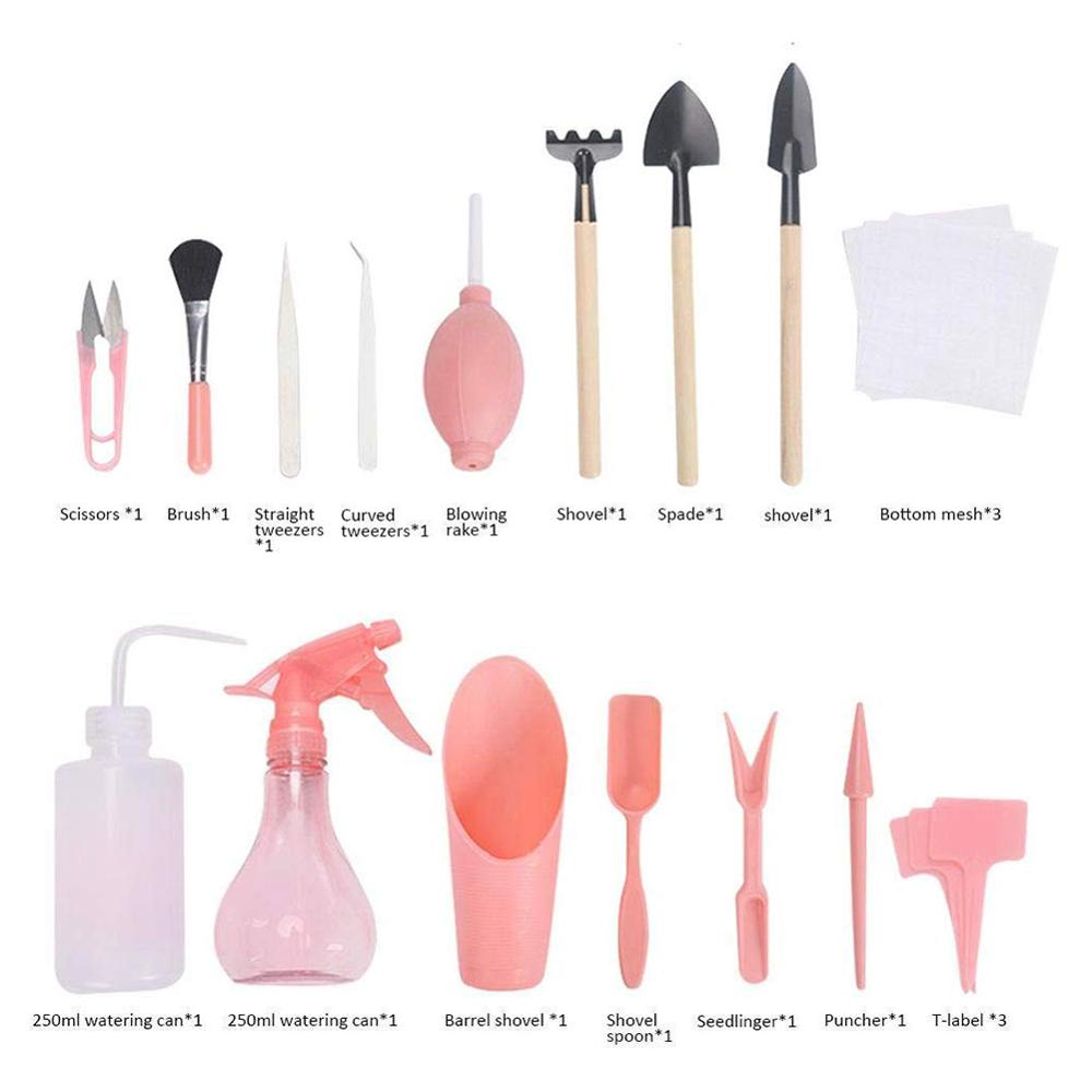 Купить 16 шт инструменты для посадки суккулентов садовые ручные ведро